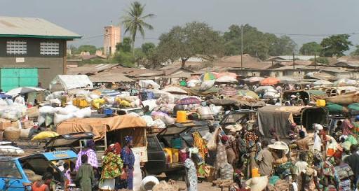 Marché de Glazoué au Bénin
