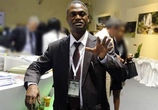 Mamane Abdou KANE, informaticien nigérien à la conférence