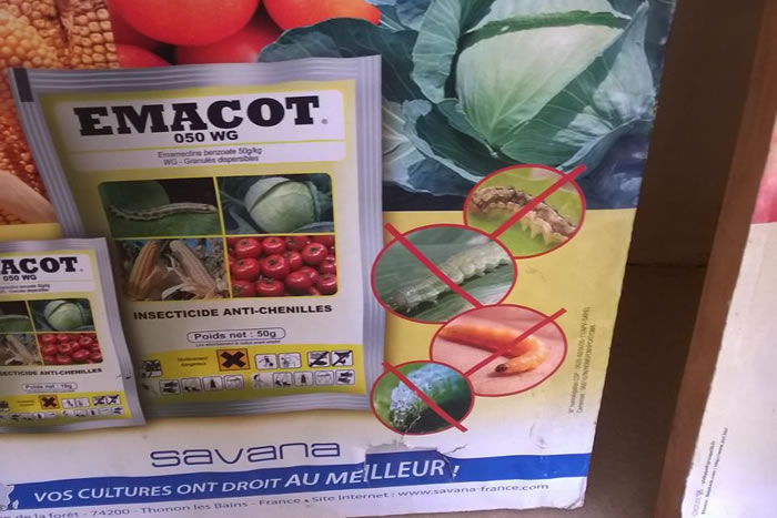 EMACOT 050 WG: Contre les chenilles ravageuses du maïs